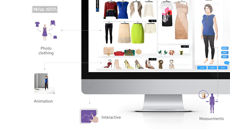 Virtual Outfits - an interactive, 3D Web-based virtual clothing platform for e-commerce